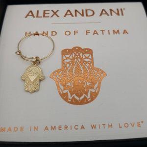 NWT Alex and Ani Hand of Fatima Ring